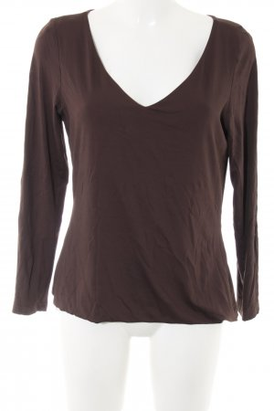 Madeleine V-Neck Shirt brown casual look