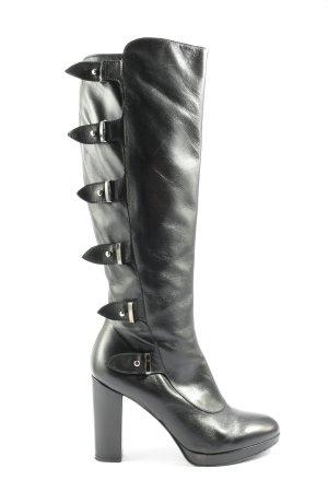 Madeleine Wide Calf Boots black elegant