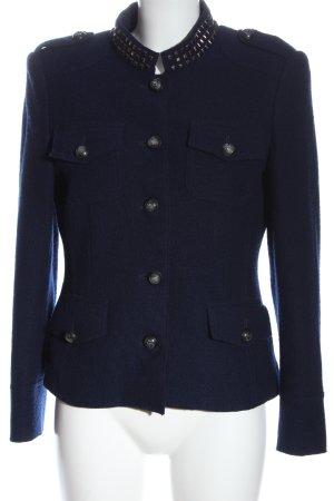Madeleine Wollen blazer blauw elegant