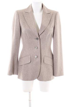 Madeleine Blazer in lana crema puntinato stile professionale