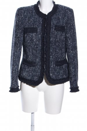 Madeleine Veste en laine noir-blanc style décontracté