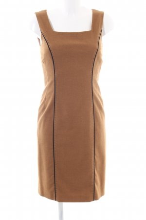 Madeleine Woolen Dress brown business style