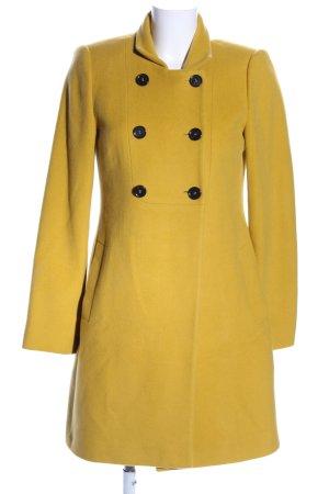 Madeleine Cappotto in lana giallo pallido stile casual