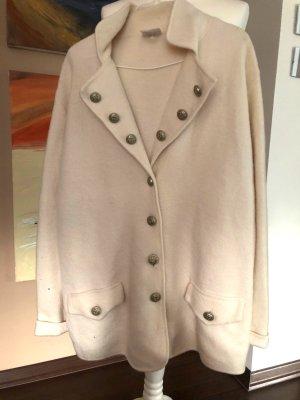 Madeleine Veste en laine blanc cassé laine