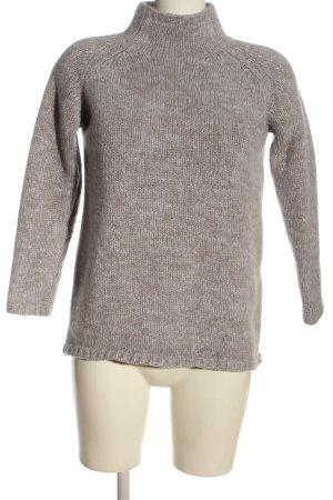 MADELINE Kaszmirowy sweter jasnoszary-w kolorze białej wełny Melanżowy