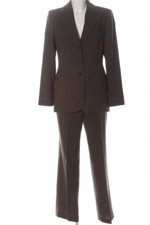 Madeleine Trouser Suit brown check pattern business style