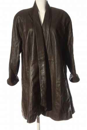 MADELINE Leather Coat brown casual look