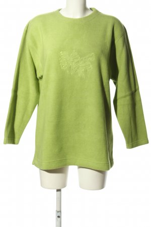 MADELINE Sweatshirt grün Motivdruck Casual-Look