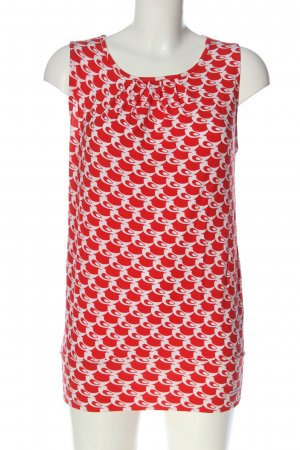 Mademoiselle YéYé Sleeveless Blouse red themed print business style