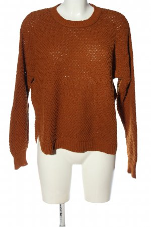 Madewell Coarse Knitted Sweater brown casual look