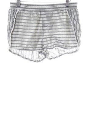 Madewell Hot Pants hellbeige-graublau Streifenmuster
