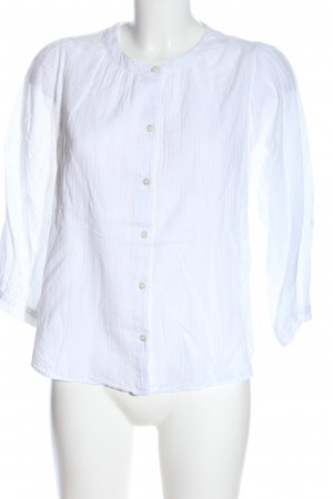 Madewell Short Sleeved Blouse white striped pattern casual look