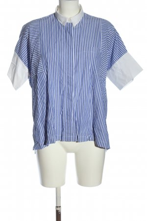 Madewell Short Sleeve Shirt blue-white striped pattern casual look