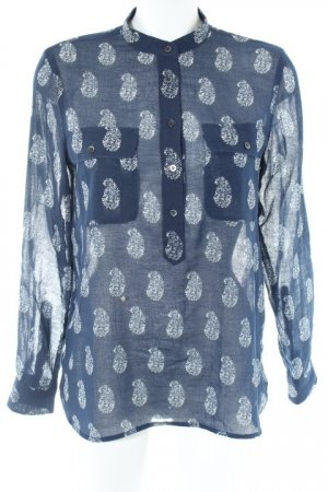 Madewell Langarmhemd dunkelblau-weiß Casual-Look
