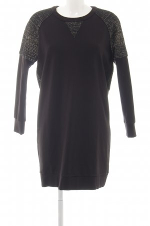 Madewell Langarmkleid schwarz meliert Elegant