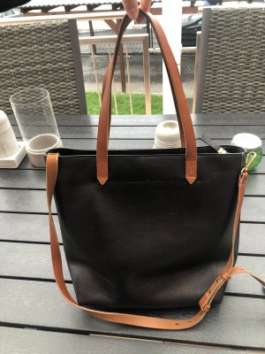 Madewell Tote black-cognac-coloured leather