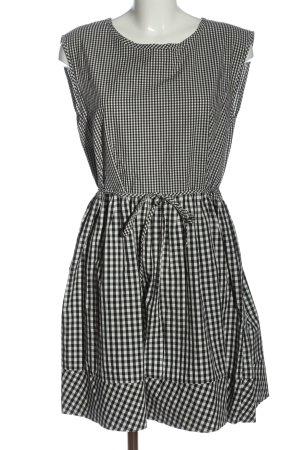 Madewell Mini Dress black-white check pattern casual look
