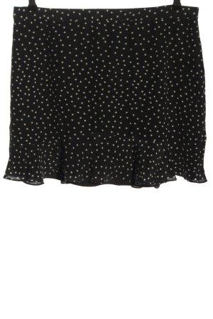 Madewell Minigonna nero-crema stampa integrale stile casual