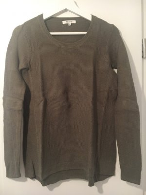 Madewell Crewneck Sweater grey brown-green grey