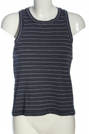 Madewell Basic Top black-white striped pattern casual look