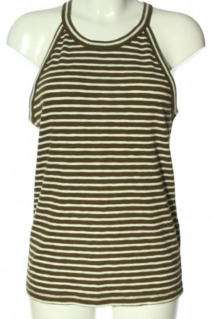 Madewell Strappy Top brown-white allover print casual look