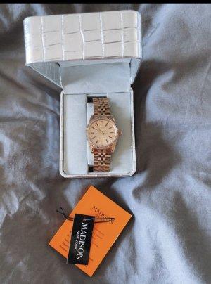 Candy Time by Madison New York Montre avec bracelet métallique or rose
