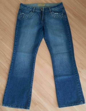 Madison Square Jeans a zampa d'elefante blu