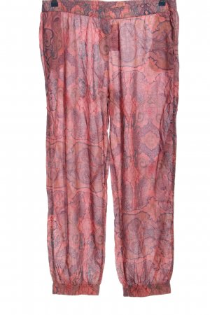 Madness Harem Pants pink-blue abstract pattern casual look