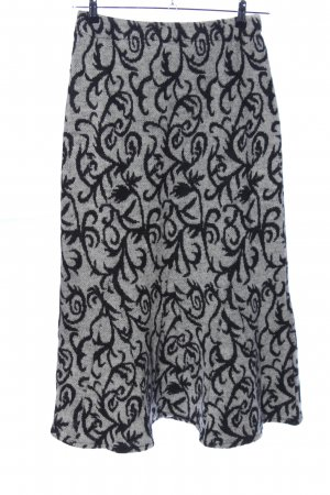Madness Maxi rok lichtgrijs-zwart volledige print casual uitstraling