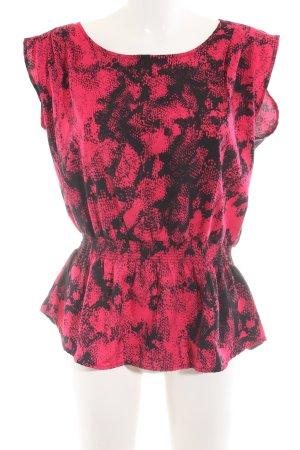 Madonna ärmellose Bluse pink-schwarz Animalmuster extravaganter Stil