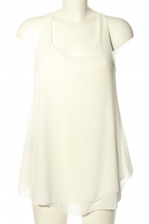 Madonna Sleeveless Blouse white casual look
