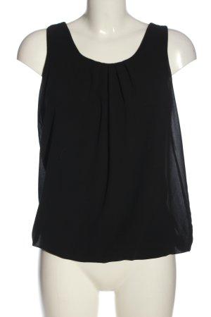 Madonna ärmellose Bluse schwarz Casual-Look