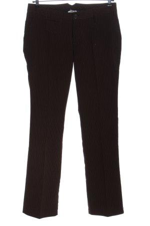Madonna Pantalón de vestir marrón-blanco estampado a rayas look casual