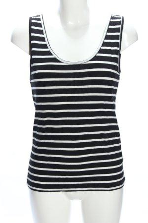 Madonna Basic Top schwarz-weiß Streifenmuster Casual-Look