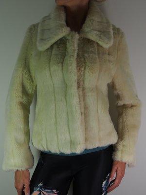 Madonna Giacca in pelliccia bianco sporco Pelliccia