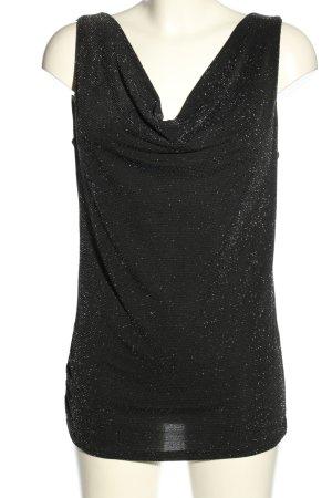 Madonna Cowl-Neck Top black casual look