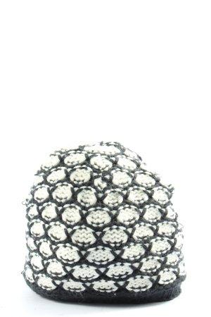 Madonna Bonnet en crochet noir-blanc imprimé allover style décontracté