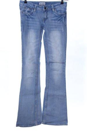 Madonna Jeansschlaghose blau Casual-Look