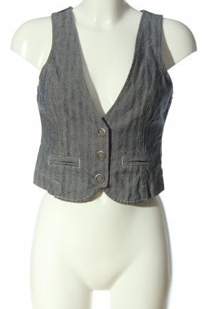 Madonna Jeansweste hellgrau Streifenmuster Casual-Look