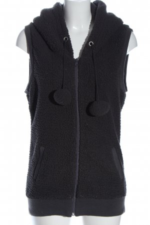 Madonna Hooded Vest black casual look
