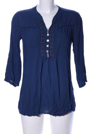 Madonna Langarm-Bluse blau Casual-Look