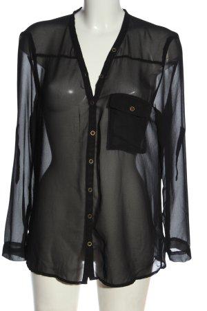 Madonna Bluzka z długim rękawem czarny W stylu casual