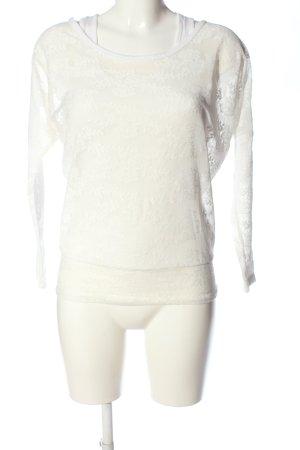 Madonna Camicetta a maniche lunghe bianco stile casual