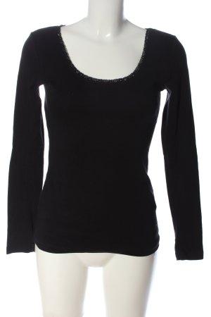 Madonna Langarm-Bluse schwarz Casual-Look