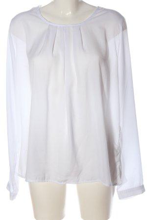 Madonna Blusa de manga larga blanco estilo «business»