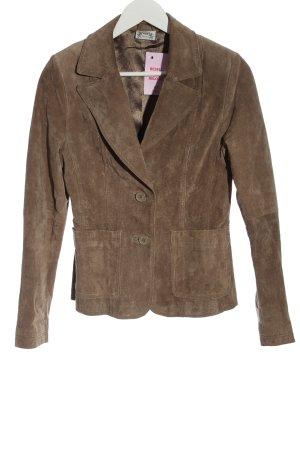 Madonna Leren blazer bruin elegant