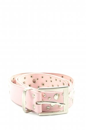 Madonna Faux Leather Belt pink-gold-colored casual look