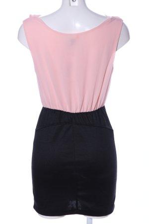 Madonna Minikleid pink-schwarz Elegant