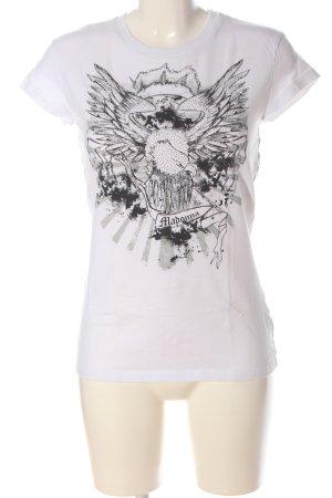 Madonna Camicia fantasia bianco-nero Stampa a tema stile casual