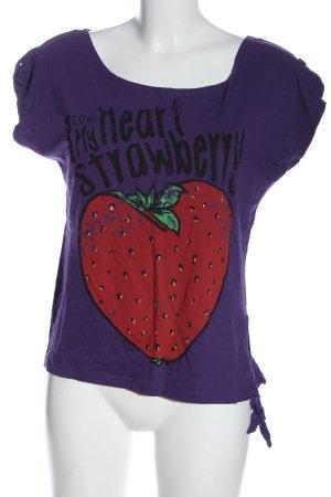 Madonna Print-Shirt Motivdruck Casual-Look